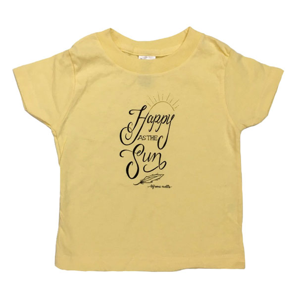 Happy As The Sun Toddler Tee